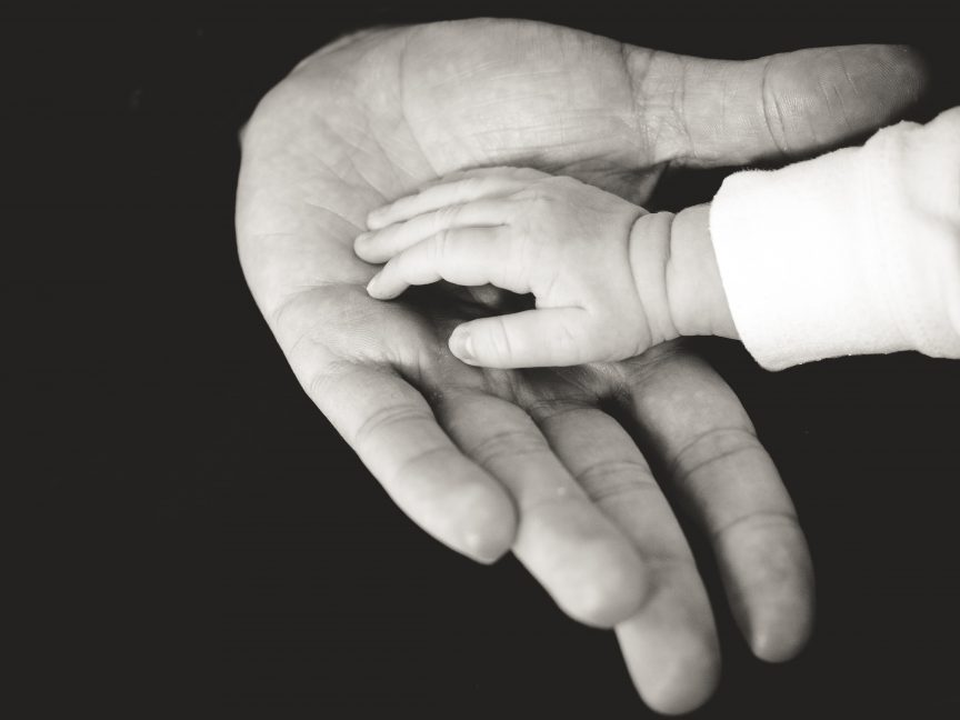Father & child's hands
